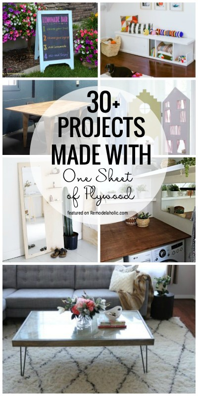 Grab A Sheet Of Plywood To Make One Of These Fabulous Projects. 30+ Projects Made With One Sheet Of Plywood Featured On Remodelaholic.com