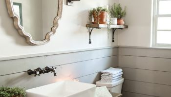 Get This Look Fixer Upper Hot Sauce House Powder Room