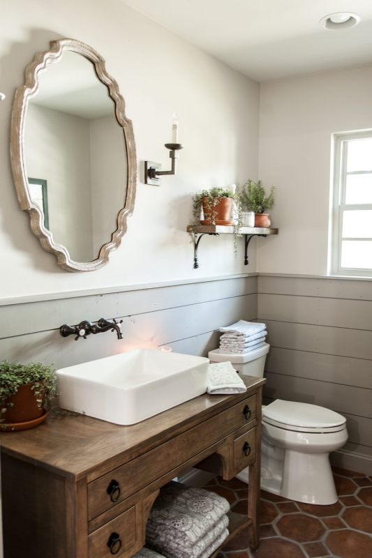 Remodelaholic Get This Look Fixer Upper Hot Sauce House Powder Room