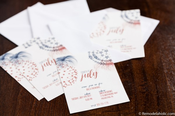 4th of July Party Invitations: Summer BBQ Printable and Editable Invitations via Remodelaholic.com