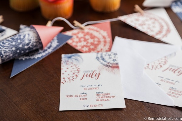 Free Printable Patriotic Party Pack Ideas featured on Remodelaholic.com