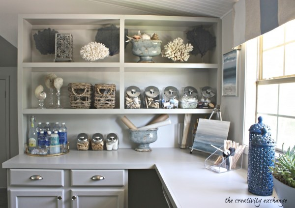 Inexpensive Ways To Create Built In Shelving And Counters 1024x722