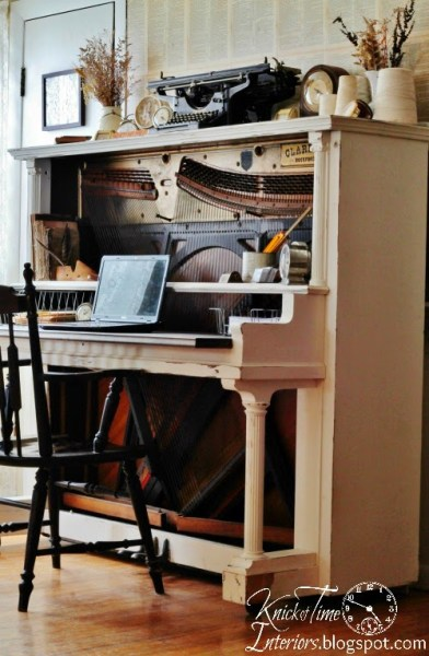 Repurposed Piano Desk