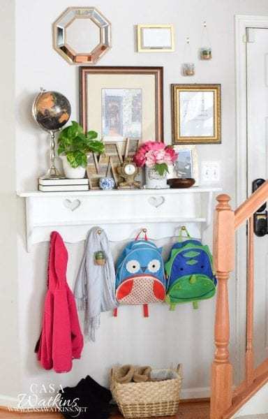 Styling A Global Eclectic Spring Entryway