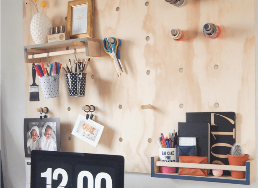 Remodelaholic  How to Make a Jumbo Plywood Pegboard