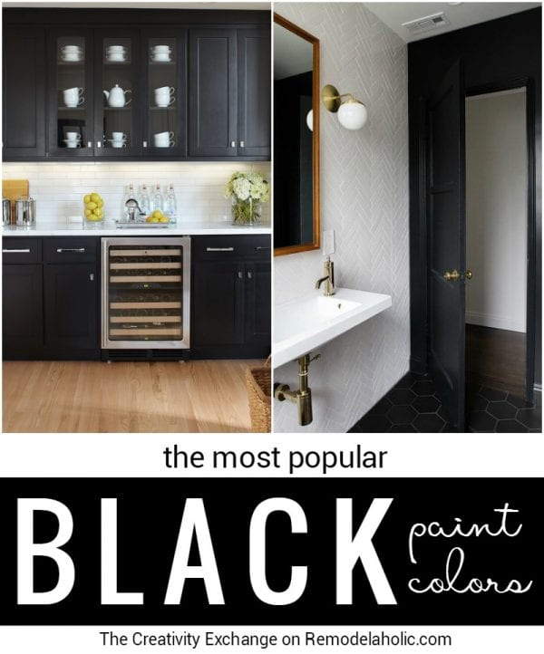 Remodelaholic Most Popular Black Paint Colors