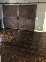 Plywood Plank Flooring, Lee Burris 2 6 17, Torched And Stained, Featured On @Remodelaholic