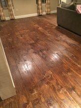 Plywood Plank Flooring, Maria Santangelo 9 8 16, Stained And Polyed, Featured On @Remodelaholic