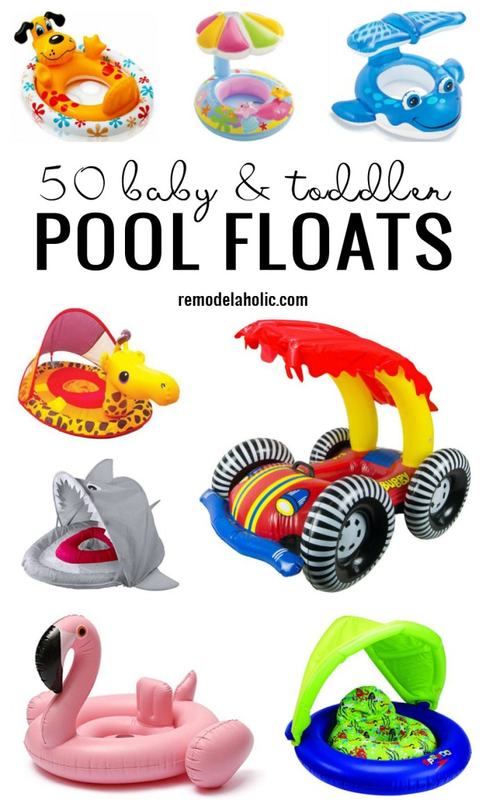 Get ready for some fun in the sun! 50 Baby & Toddler Pool Floats On Amazon via Remodelaholic.com