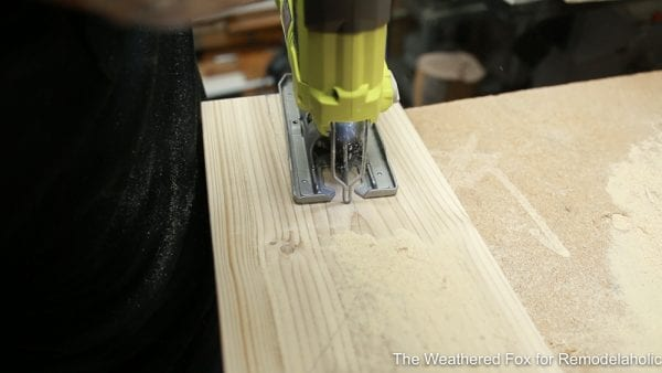 Cut leg shapes, How to make a wooden bench, Easy Outdoor Farmhouse Bench The Weathered Fox 12