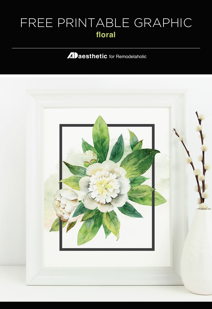 "Use this free printable ""May flowers"" watercolor floral print to add spring greenery to your home anytime of the year."