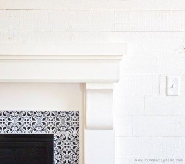 Great .Wall Transformation With Stikwood Hamptons Five Marigolds
