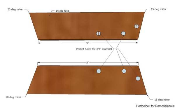 I love unexpected design features! Free plans to build a Mid-Century Modern side table with convenient magazine or book holder. Build this side table with only 1 board!