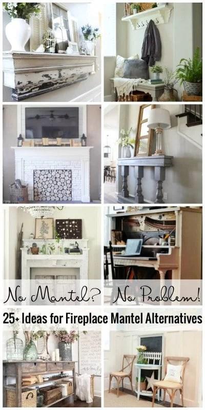 Remodelaholic No Mantel No Problem 25 Ideas For Fireplace Mantel Alternatives