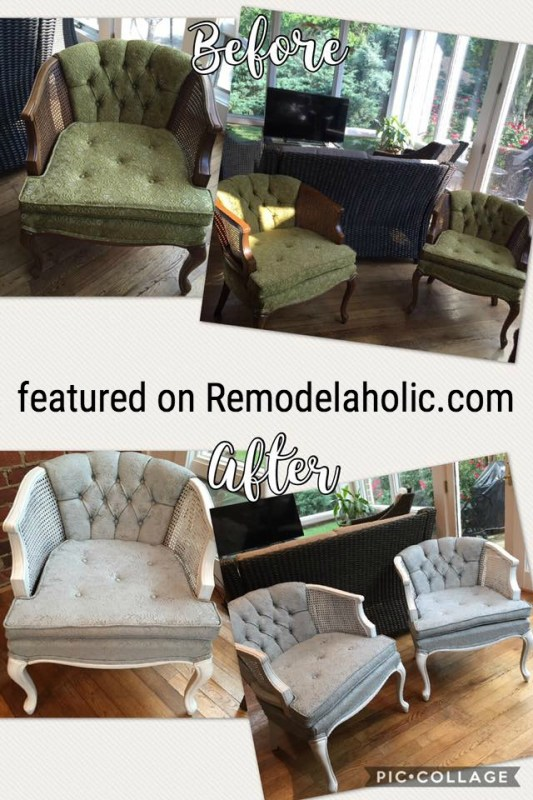 Painted Chair Upholstery Featured On Remodelaholic.com
