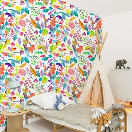 Bold Wallpaper Decor Tips Colorful Leaves