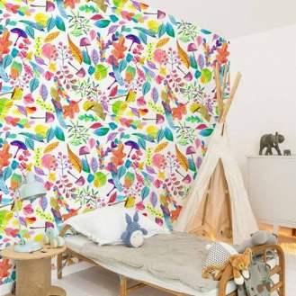Bold Wallpaper Decor Tips, Colorful Leaves Wallpaper