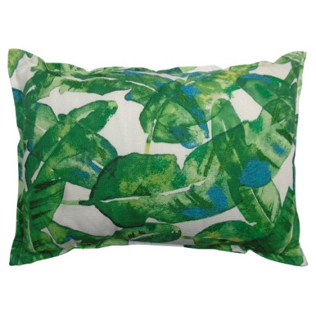 Coastal Dining Room Banana Leaf Printed Pillow