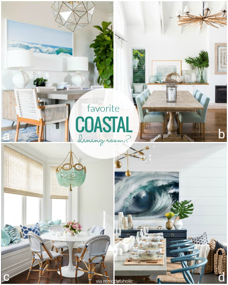 Remodelaholic & Remodelaholic | Decorating a Coastal Dining Room: Inspiration and Tips