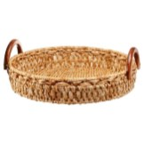 Coastal Dining Room Wicker Tray