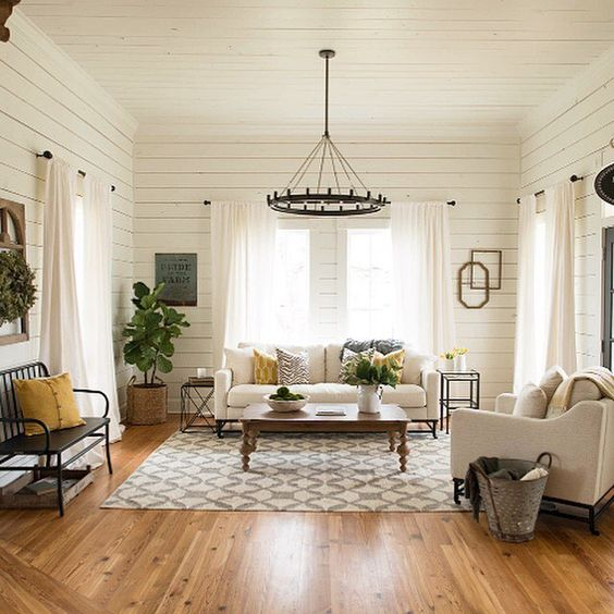 Farmhouse Family Room by Postbox Designs