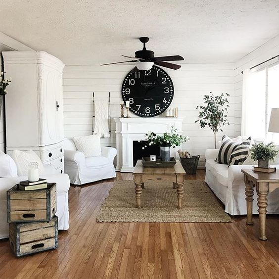 Remodelaholic | Budget Friendly Modern Farmhouse Family Room ...