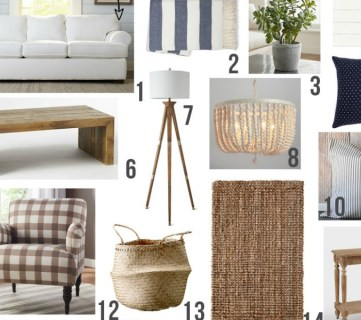 Feat Farmhouse Family Room Mood Board HORZ