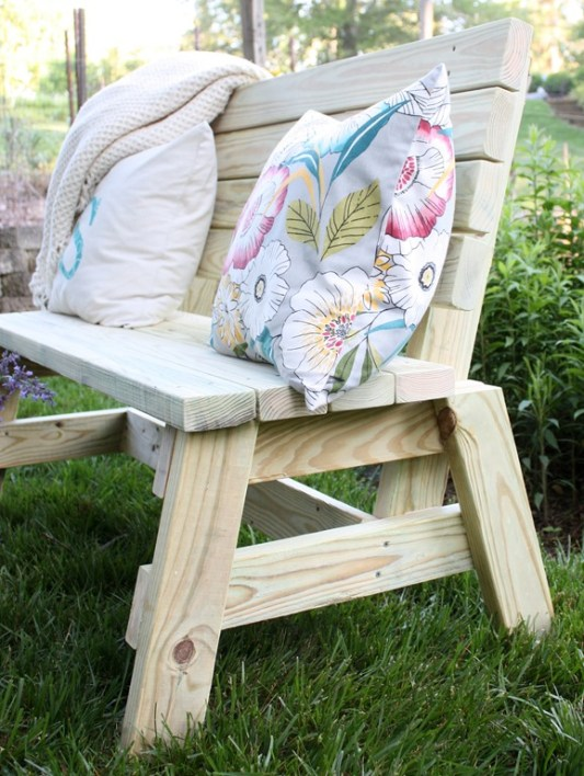 2x4 Wood Project, Bench by Virginia Sweet Pea