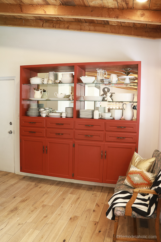 Beyond Paint In Poppy Painted Hutch @Remodelaholic 55