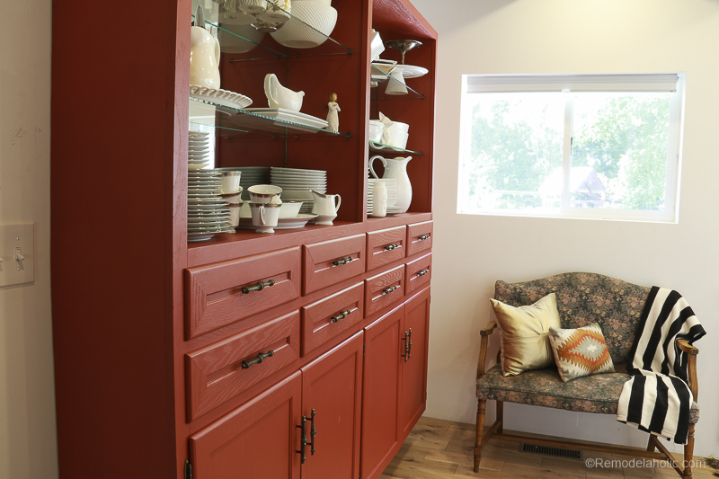 Beyond Paint In Poppy Painted Hutch @Remodelaholic 59