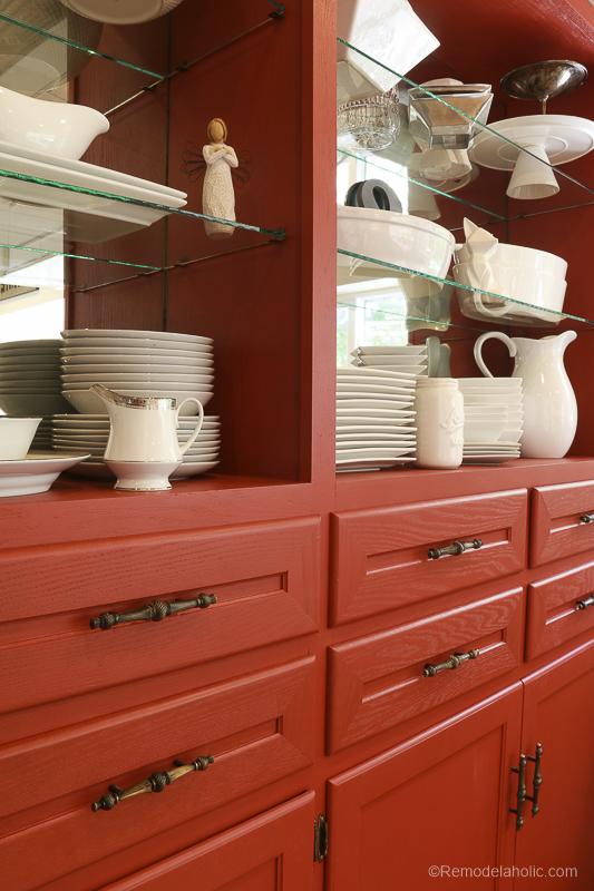 Beyond Paint In Poppy Painted Hutch @Remodelaholic 60