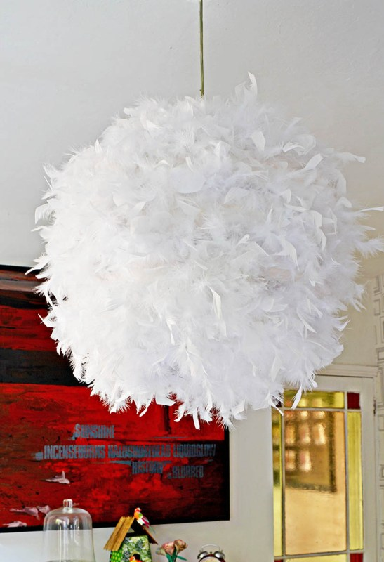 DIY Feather Lampshade S 1