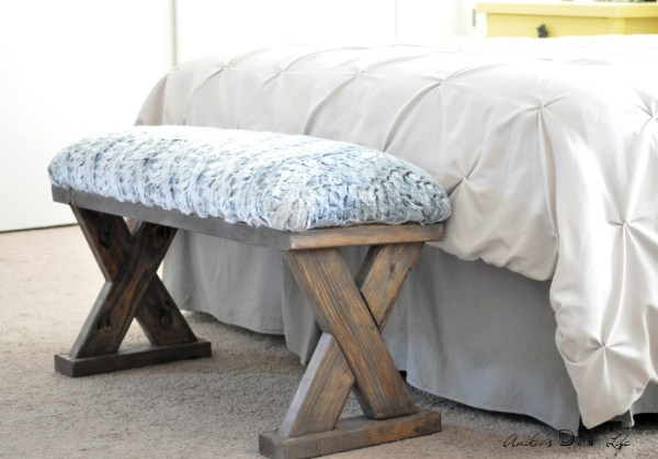 DIY Upholstered X Bench From 2x4 Boards Anikas DIY Life