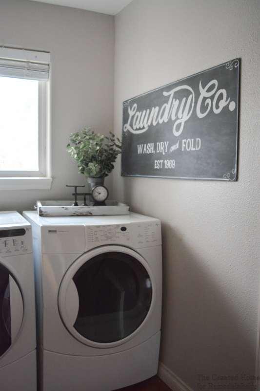 Remodelaholic Fixer Upper Inspired Farmhouse Laundry