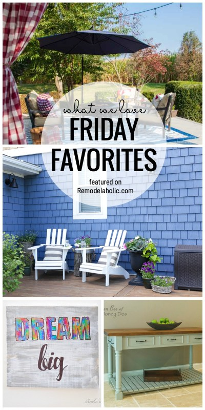 Faux Outdoor Rug And Linen Baskets Featured In What We Love For Friday Favorites Featured On Remodelaholic.com