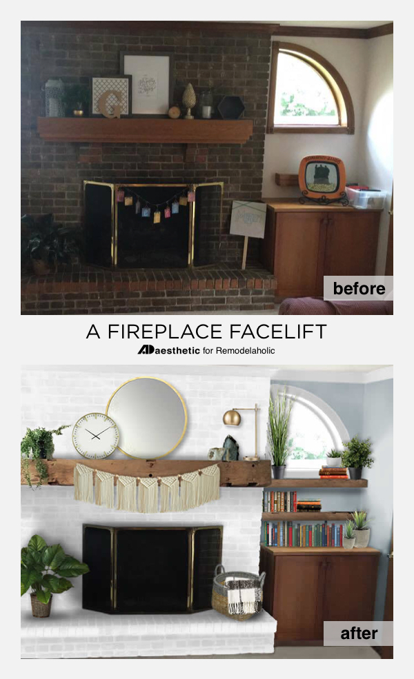 Brick Fireplace Facelift