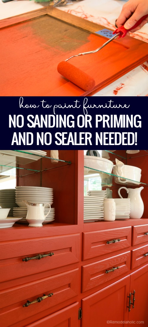 Dining Room Hutch Makeover With Beyond Paint | Paint Furniture With No Sanding, No Priming, No Sealer @Remodelaholic