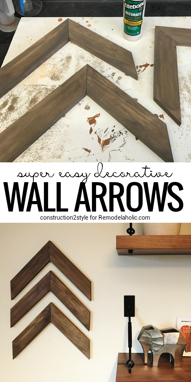 Brand-new Remodelaholic | Easy DIY Wooden Arrow Wall Decor Tutorial VP02