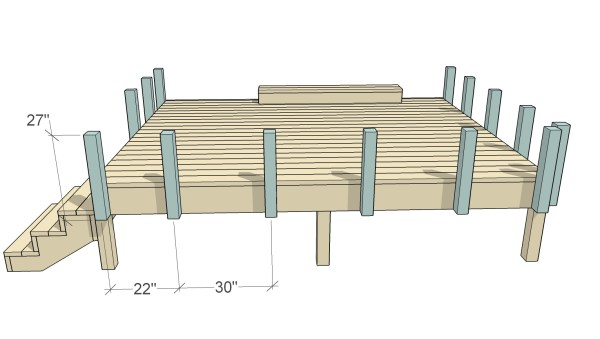 How to Build Space-Saving Deck Benches and Tables (that don't take up any square footage of your deck) | Free building plan and video tutorial at Remodelaholic.com