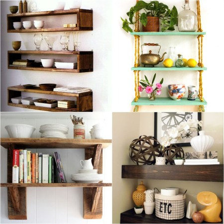 16 DIY Wall And Floating Shelves Apieceofrainbow (15)