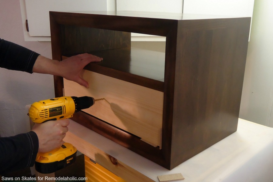 Chunky Nightstand Saws On Skates Drawer Front Drilling For Knob