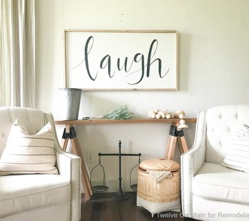 DIY Sawhorse Sofa Table14