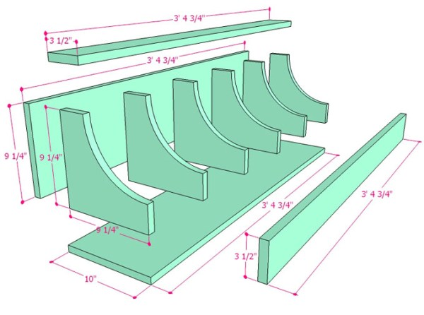 DIY Wall Shelf Building Plan Apieceofrainbow (8)