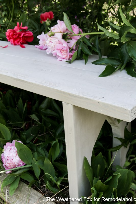 Easy Farmhouse Bench From Inexpensive Lumber Remodelaholic The Weathered Fox 21