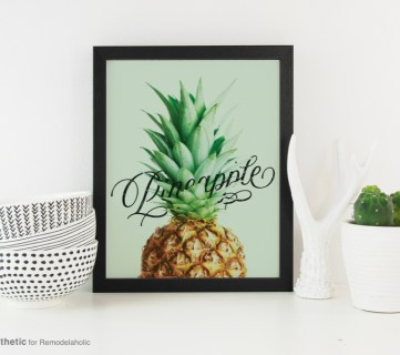 Printable Graphic | Pineapple Word Art Printable | AD Aesthetic For Remodelaholic