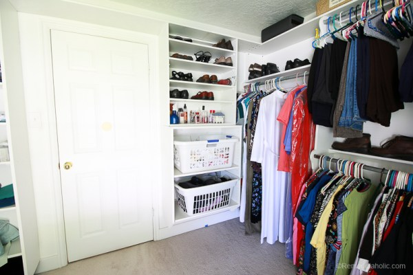 New Speed Queen Stacked Unit Installed Into Closet @Remodelaholic 41