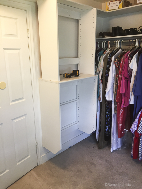 New Speed Queen Stacked Unit Installed Into Closet @Remodelaholic 42