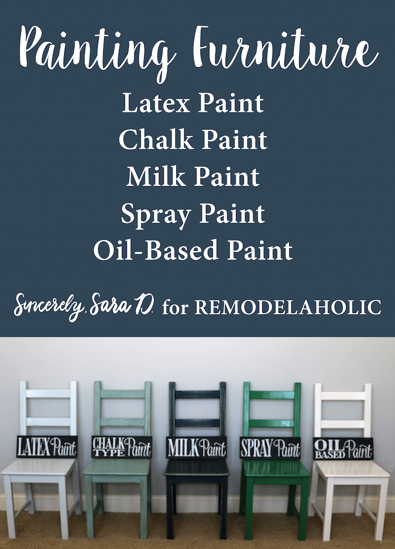 Remodelaholic Painting Furniture Tips For Using 5 Different