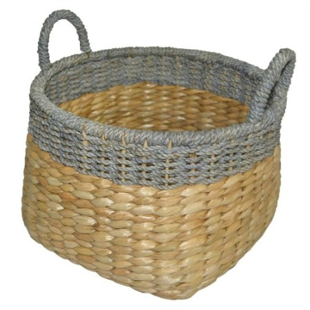 Brick Fireplace Facelift, Seagrass Wicker Basket