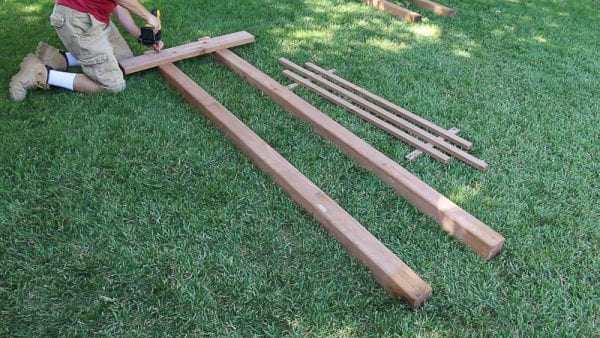 Remodelaholic How To Build A Garden Arbor For A Backyard Wedding Arch
